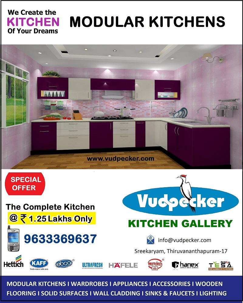 Special Offer ! Complete Kitchen @ 1.25 Lakhs Only. Includes Kaff Chimney and Hob