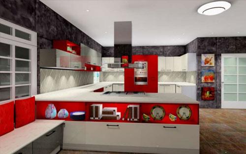 G Shape Kitchen